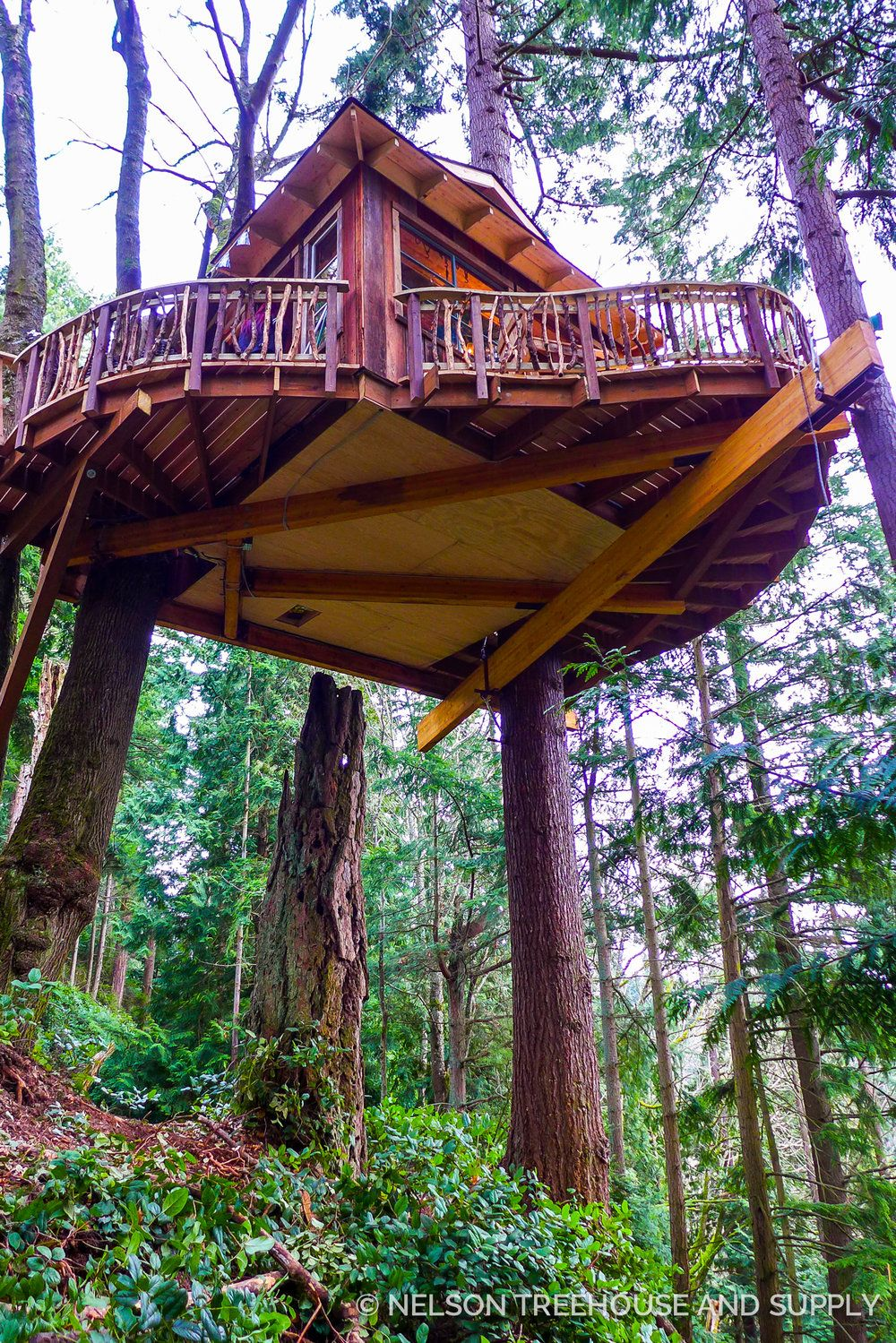 Nelson Treehouse Sky Pirate Hideout | Tree Houses | Pinterest ...