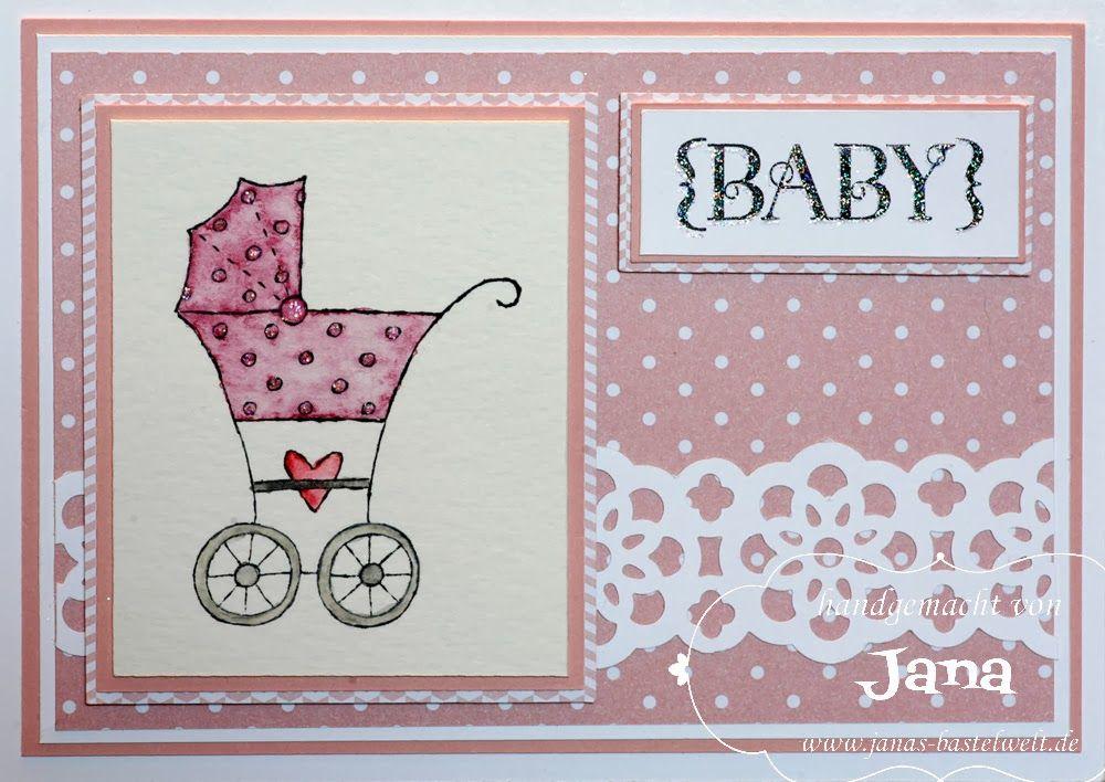 Janas Bastelwelt: Baby-Karte