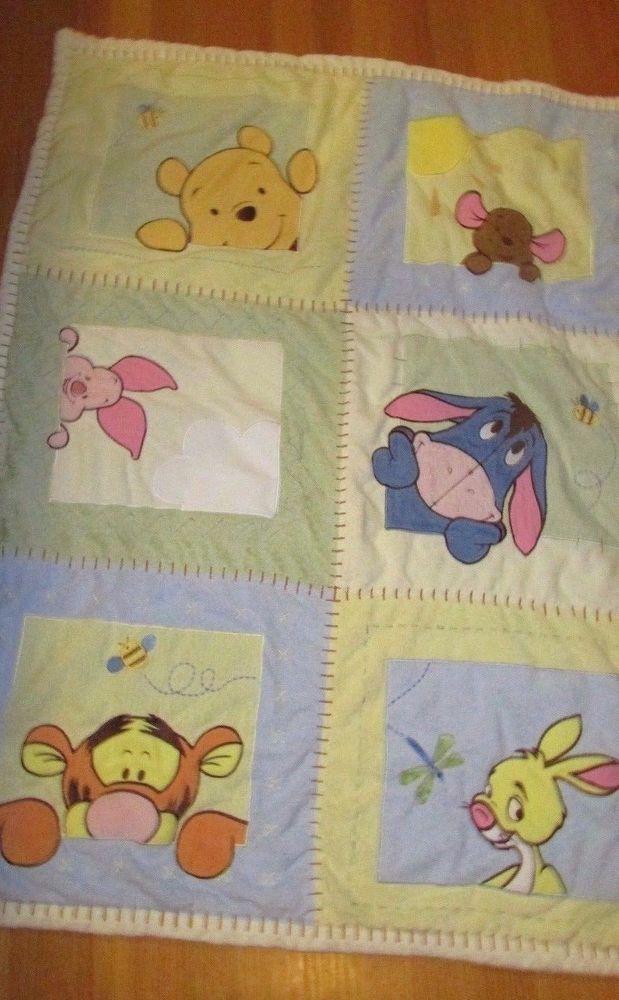 Disney Winnie Pooh Soft Amp Fuzzy Plush Crib Bedding Quilt