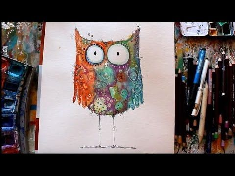 Eule Malen Aquarell Tutorial Mit Clarissa Hagenmeyer Youtube