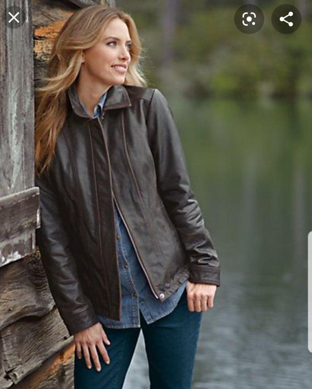 Eddie Bauer Leather Jacket Size Tall Xl Jackets Leather Jacket Dark Brown Leather Jacket [ 1499 x 1200 Pixel ]