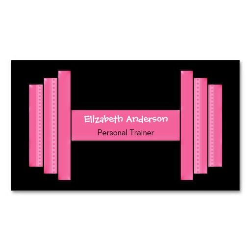 Modern Pink And Black Personal Trainer Business Card Template - Personal trainer business card template