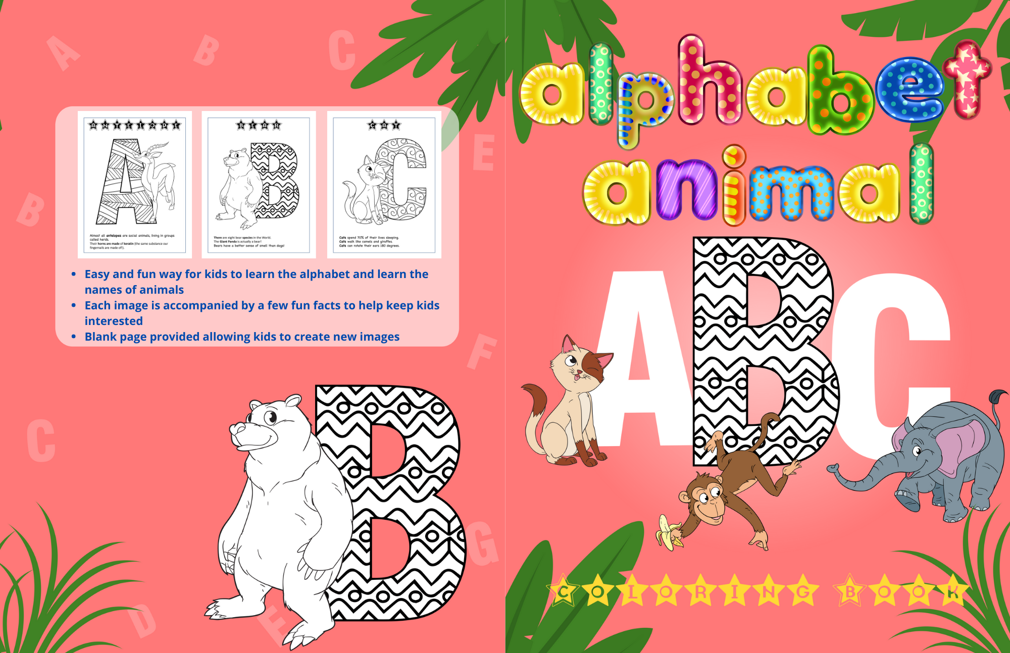 Alphabet Animal Abc Coloring Book For Kids Toddler Coloring Book Abc Coloring Abc For Kids