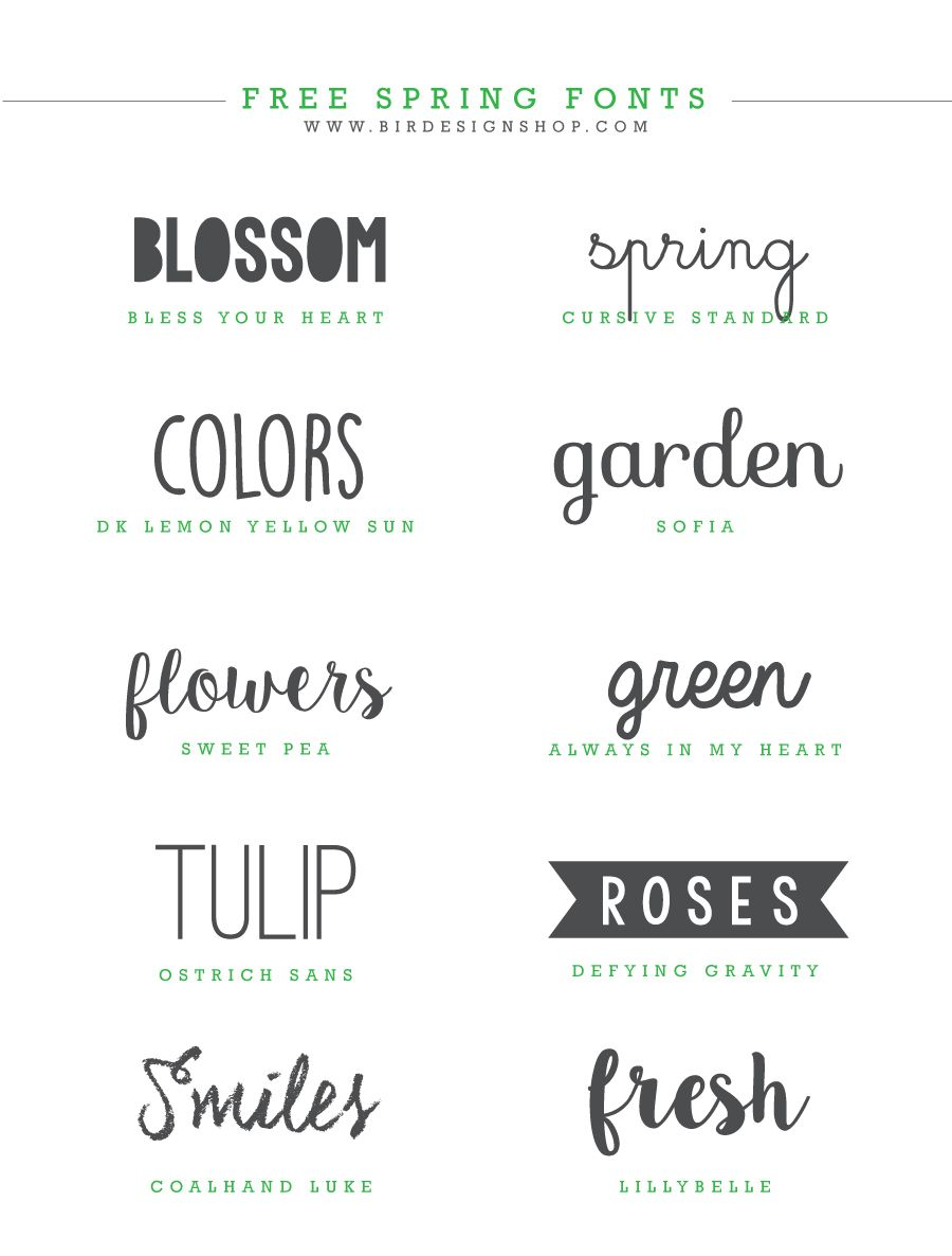 Spring fonts inspiration | Download FREE