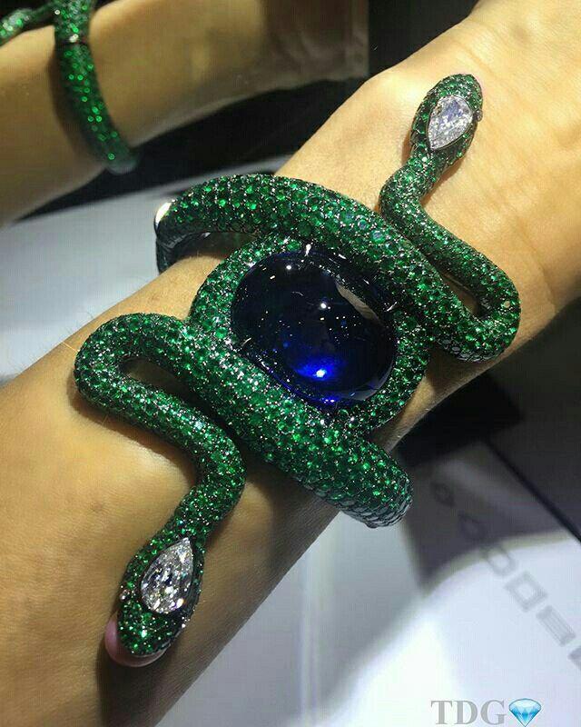 Sapphire, emeralds, diamonds