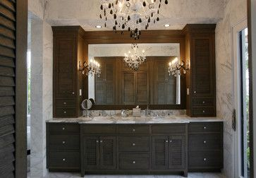 Transitional Bathroom   Traditional   Bathroom   Tampa   Campbell Cabinetry  Designs Inc. Like Chandalier