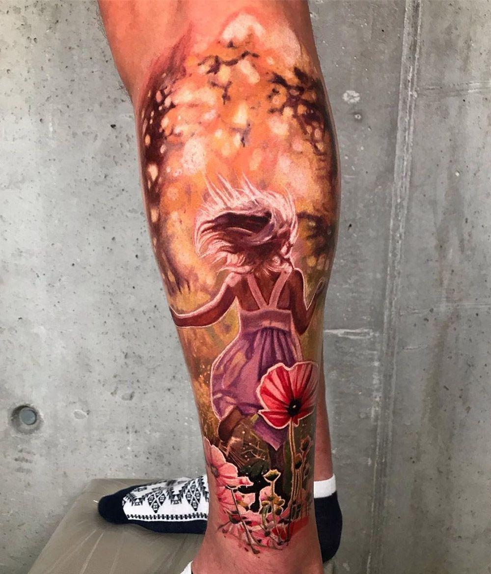 Running Free In The Evening Sun Best Tattoo Design Ideas In 2020 Best Tattoo Designs Cool Tattoos Surreal Tattoo