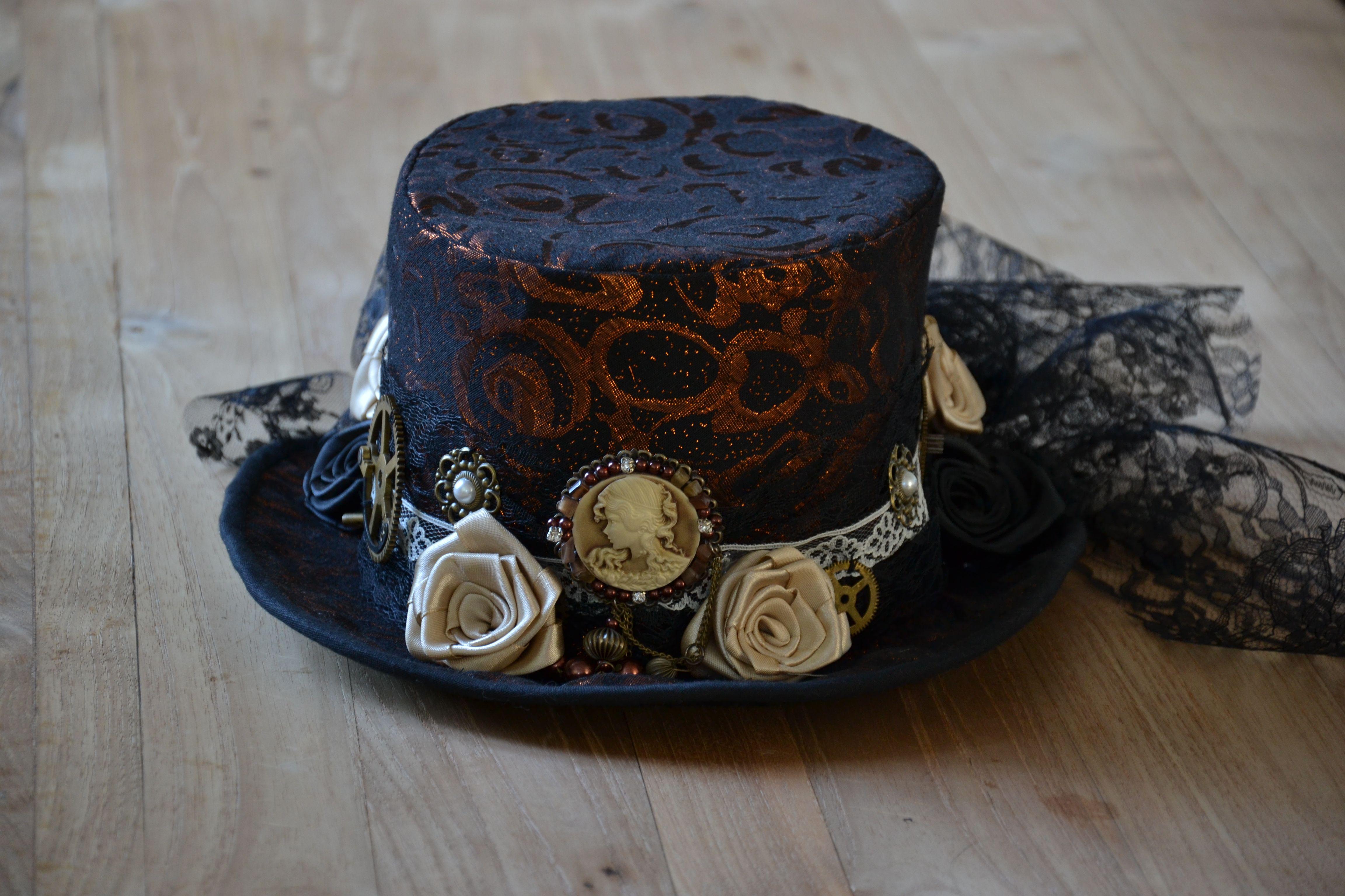 steampunk hoed, steampunk hat  www.fatadesigna.com