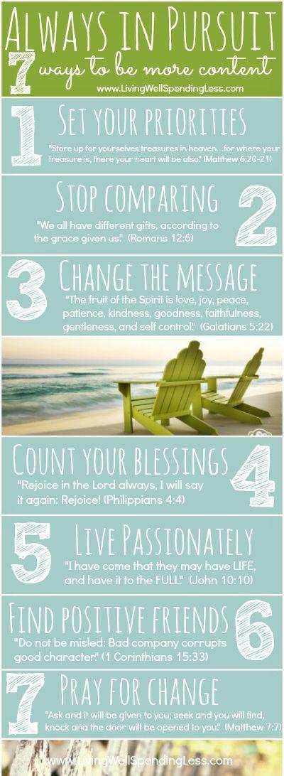 Siempre en búsqueda {7 maneras de estar más contentos ahora mismo} # # fe # contentamiento inspiración
