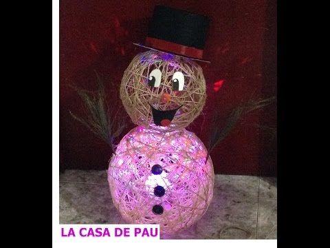 Muñeco de nieve para navidad. 1/2 - YouTube