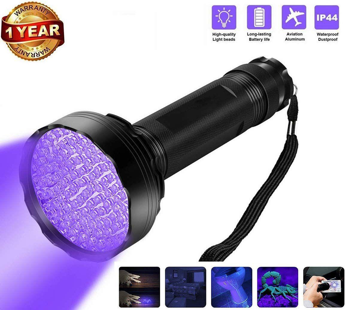 UV Flashlight Black Light, 100 LED Ultraviolet Blacklight