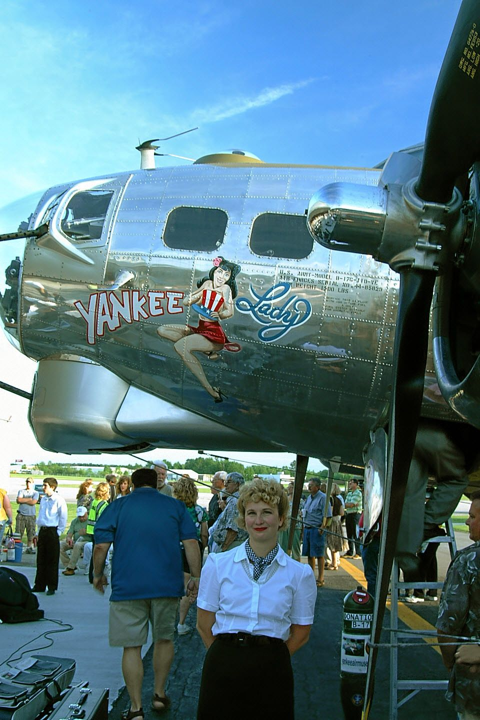 Yankee Lady, from the Yankee Air Museum in Belleville