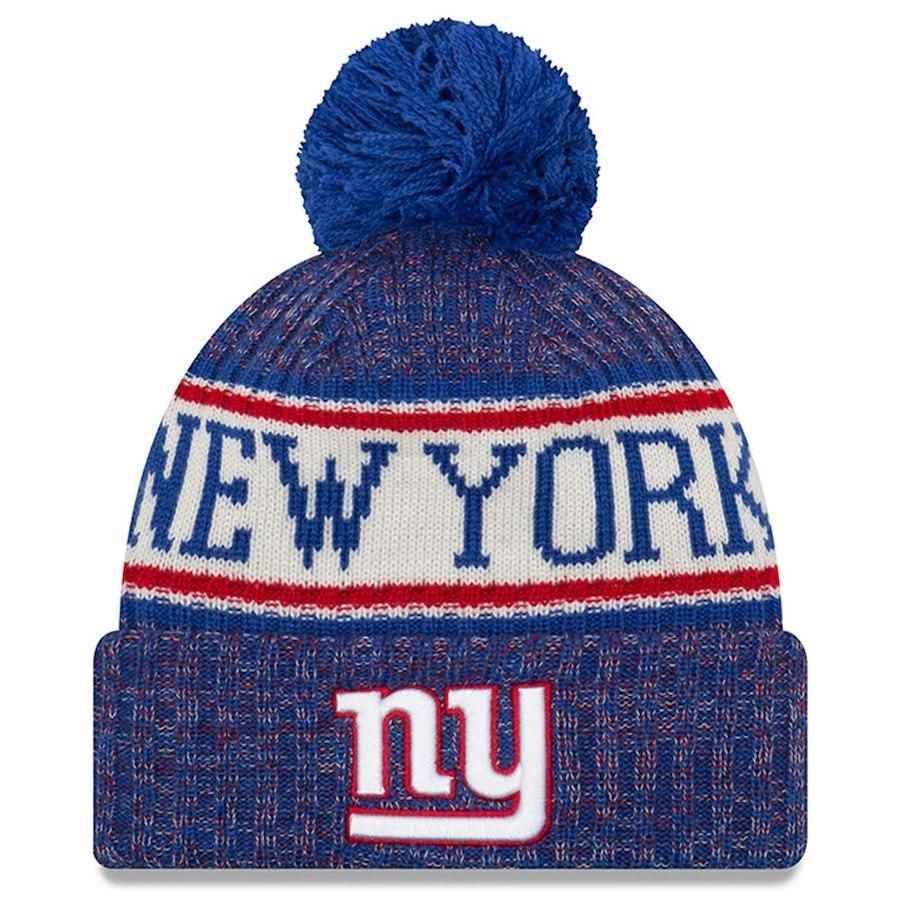 New York Giants New Era Blue 2018 NFL Sideline Official Sport Knit ... 2c0749c3f