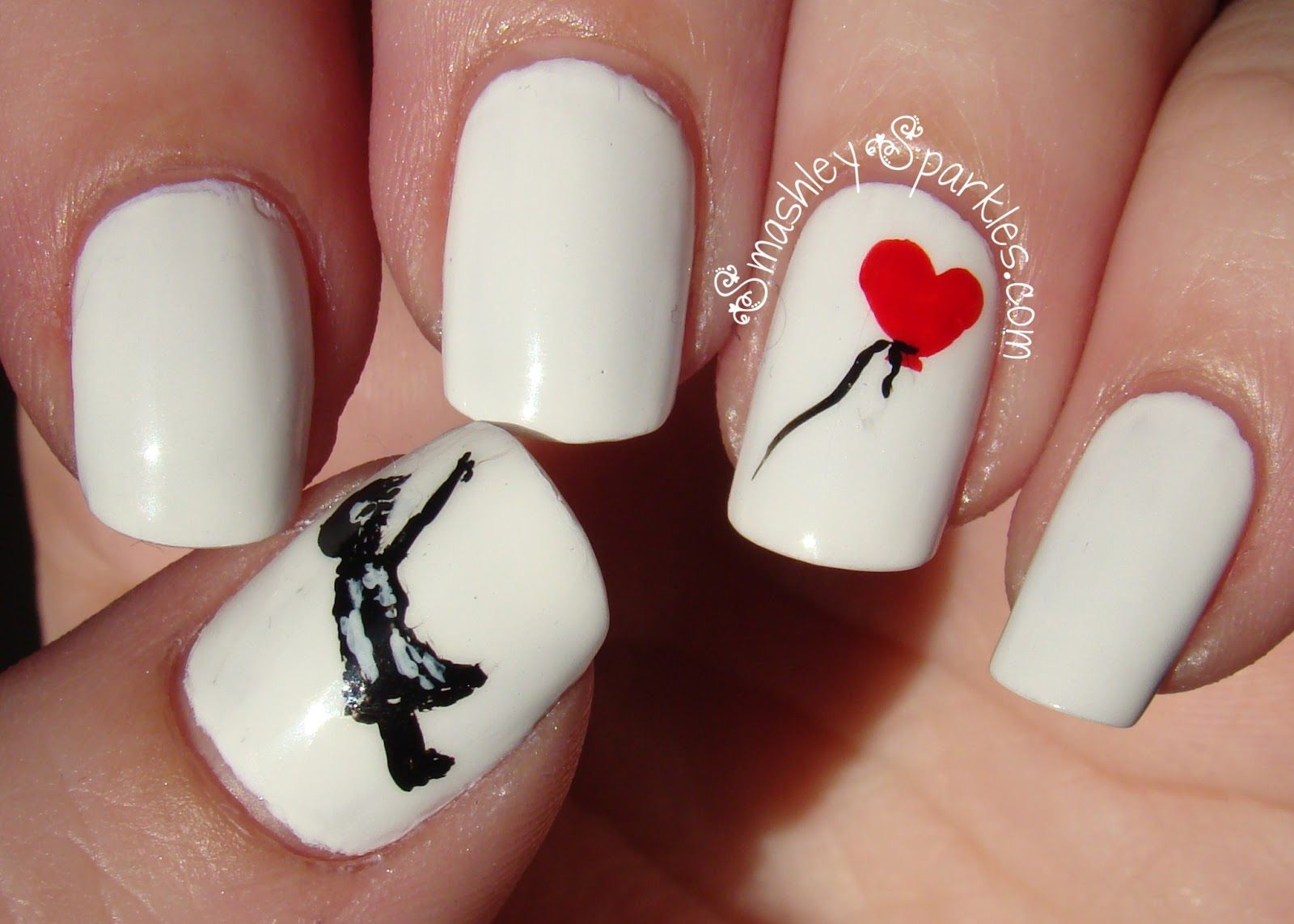 Girl with heart balloon nails pinterest banksy heart girl with heart balloon prinsesfo Choice Image