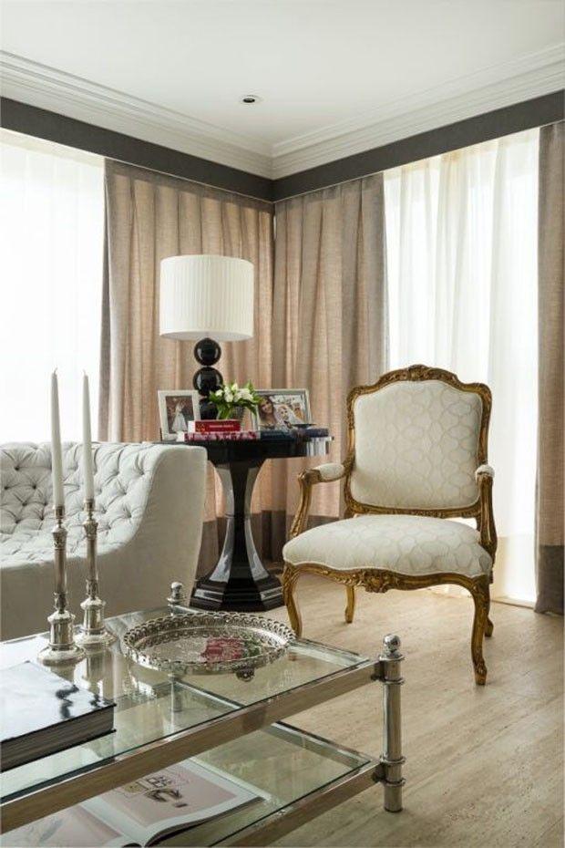Lala Rudge abre sua casa em São Paulo Sala de estar, Cortinas y - Decoracion De Interiores Salas
