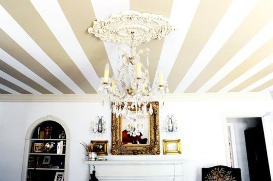 Gold Striped Ceiling Quick Fix Home Makeovers House