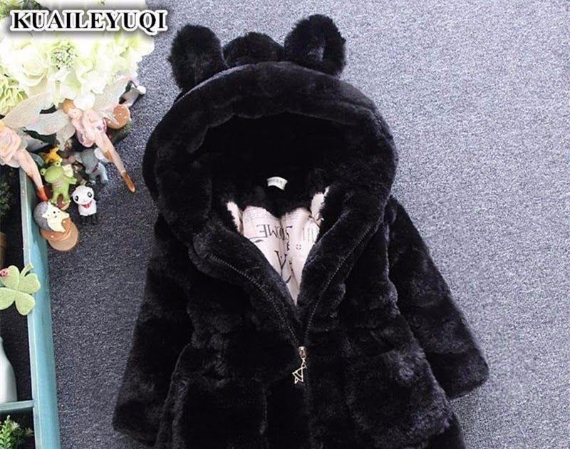 1fb77fb105f51 Best Price 2018 Winter Baby Girls Clothes Faux Fur Fleece infant Coat  Pageant Warm kids Jacket