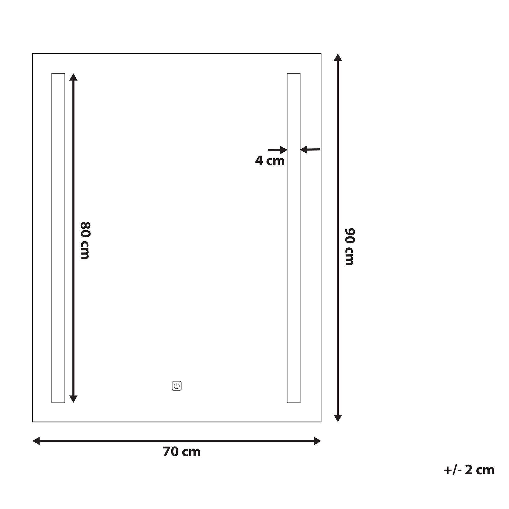 Badspiegel Mit Led Beleuchtung Rechteckig 70 X 90 Cm Martinet In 2020 Locker Storage Storage Floor Plans