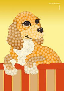 Playmais Trendy Mosaic Bastelvorlage Hund 2 Playmais Handicraft