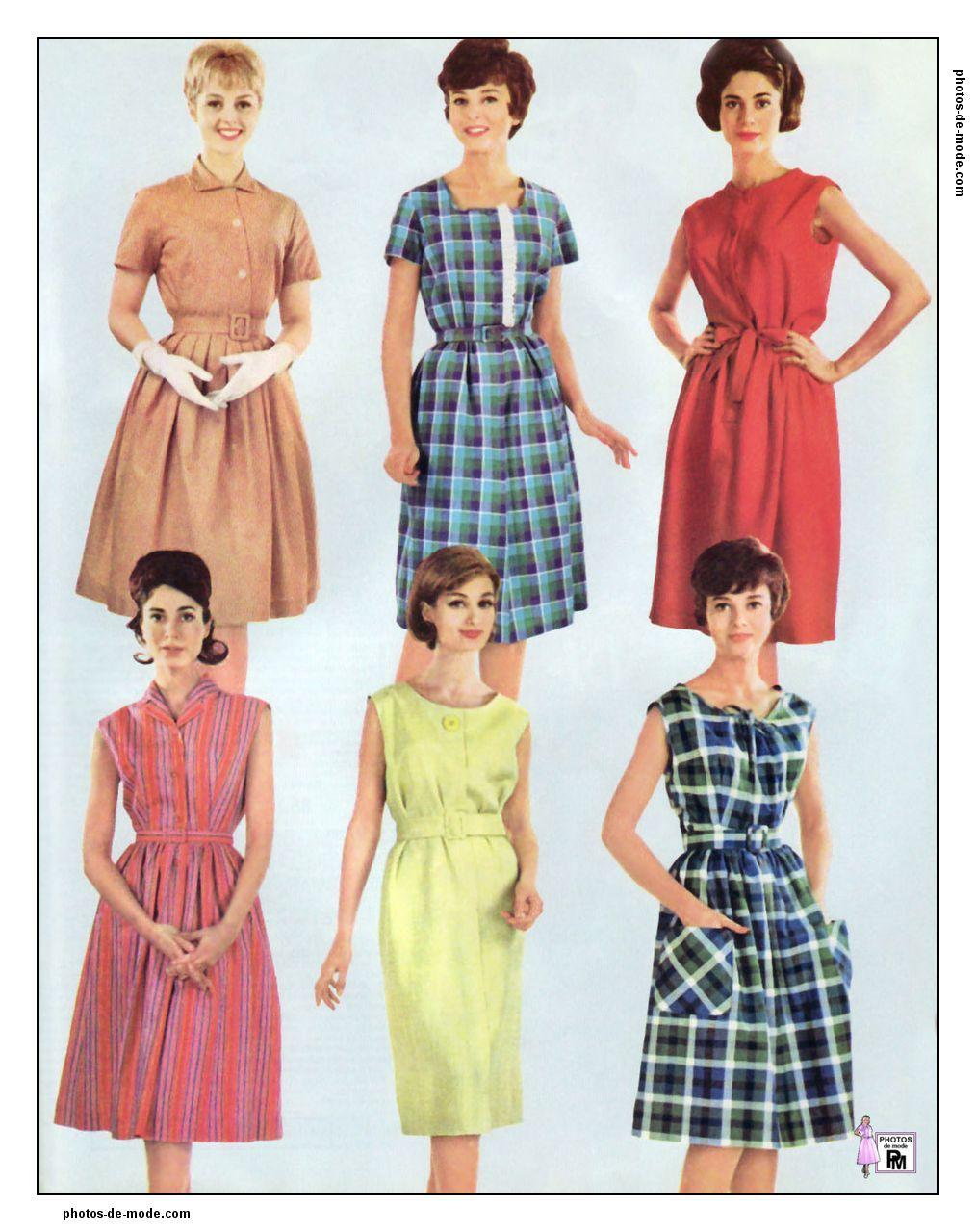 Vintage Année 50 concernant robes rétro 1961 | vintage dress 60's | pinterest | robe retro