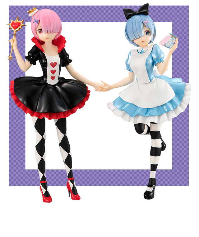 Anime Re:Life in a different world from zero Rem In Wonderland Figure New No Box