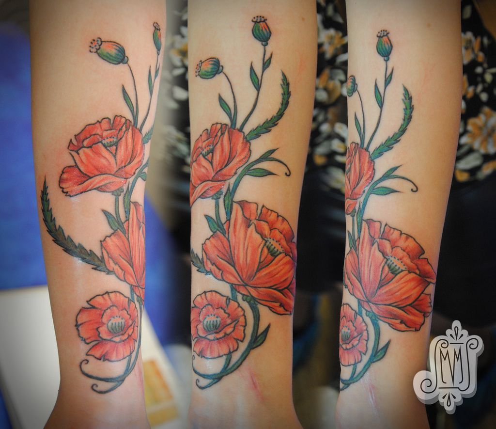 Images For Poppy Flower Tattoo Traditional T A T T O O S