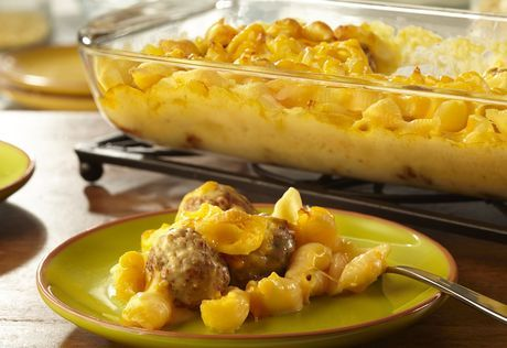 Looking for a casserole that will earn rave reviews? Look no further…pasta, Cheddar cheese soup, milk, Cheddar cheese and meatballs combine for a family-friendly casserole that's loaded with flavor. It's easy, delicious and on the table in just 45 minutes.