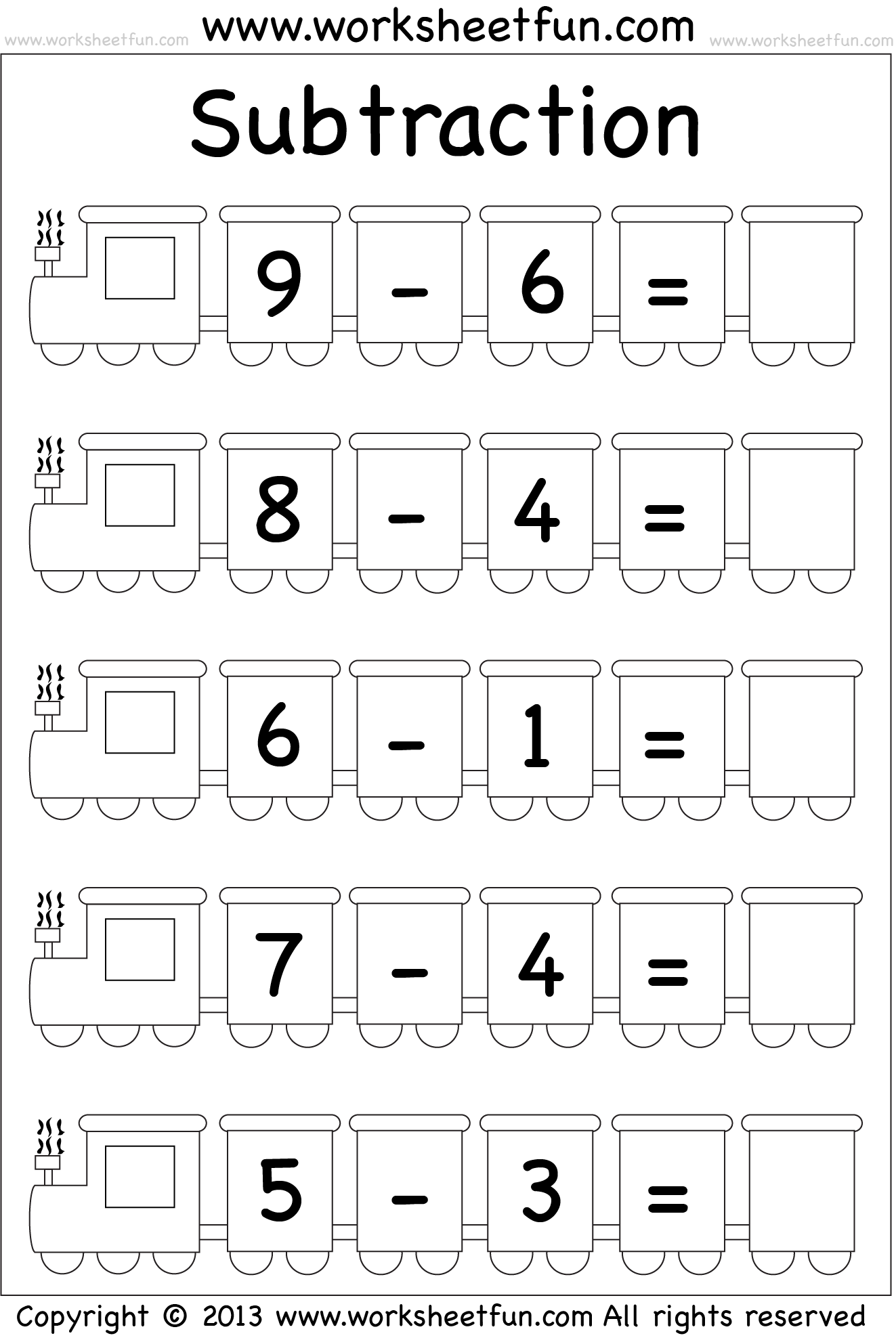 math worksheet : subtraction worksheet  math computation  pinterest  subtraction  : Simple Subtraction Worksheets For Kindergarten
