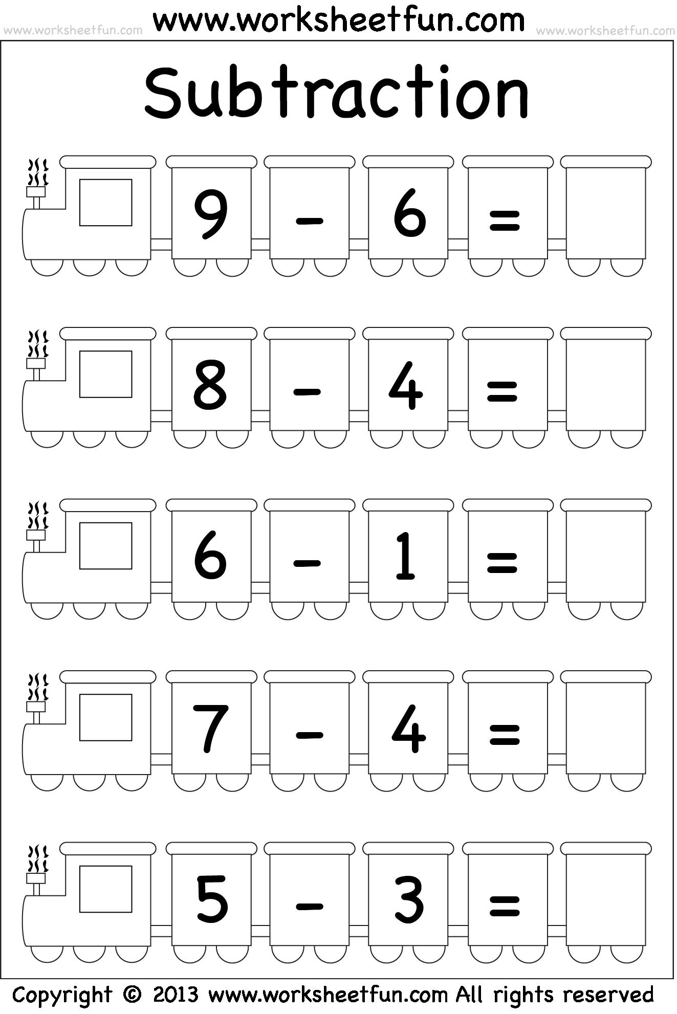worksheet Subtraction Worksheet Kindergarten subtraction worksheet math computation pinterest worksheet
