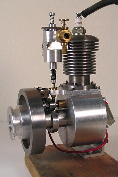 """Shop Built 4 Cycle Gasoline Engine - Approx 5"""" high overall"""