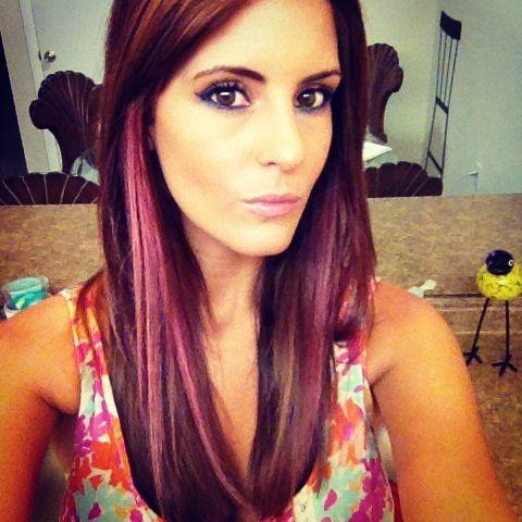 Pink Streak Hair By Zaklina Pink Hair Hair Red Hair Streaks