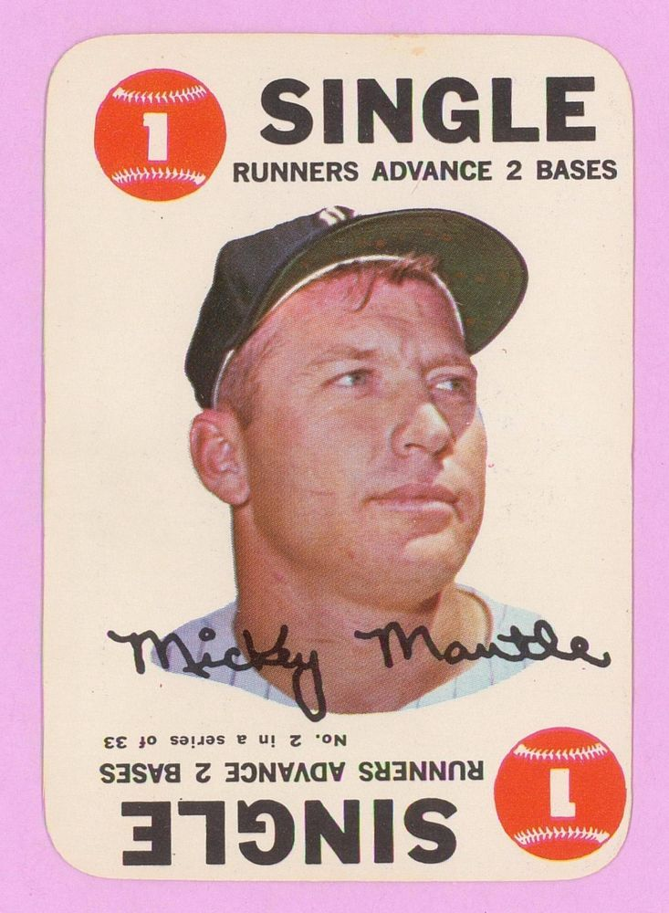 1968 Topps Game Mickey Mantle Baseball Card New York Yankees 2 Vg Baseball Cards Mickey Mantle Baseball