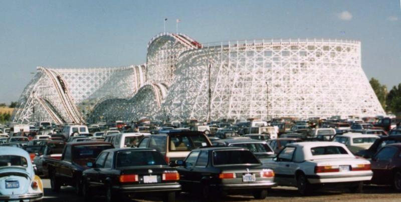Colossus Six Flags Magic Mountain Valencia California Usa San Diego Houses Thrill Ride Roller Coaster