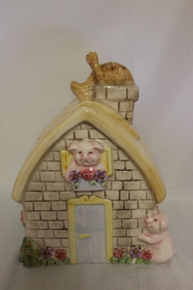 Three Little Pigs and Wolf Cookie Jar