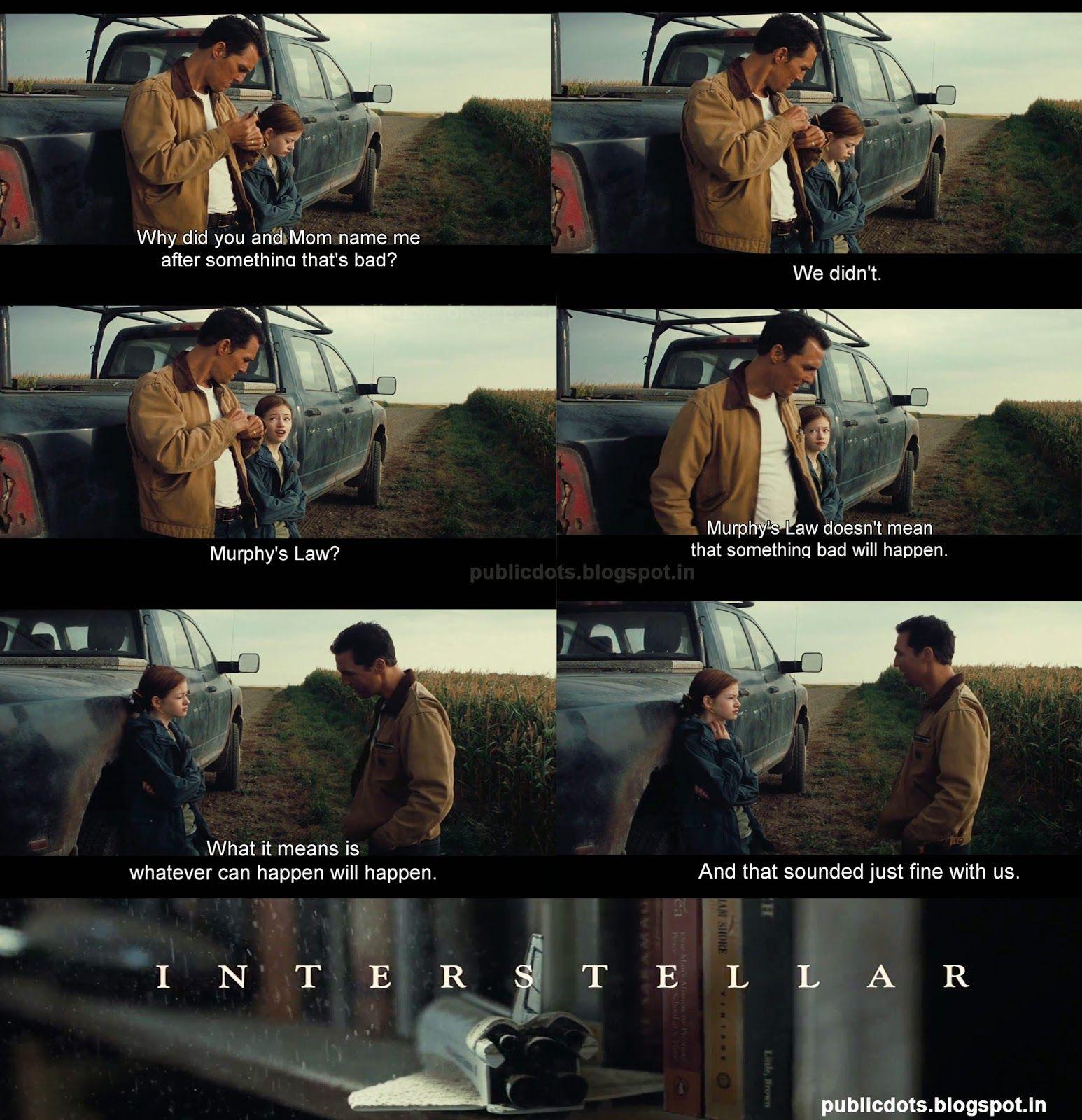 Interstellar Murphy S Law Filmes Series E Filmes Interestelar