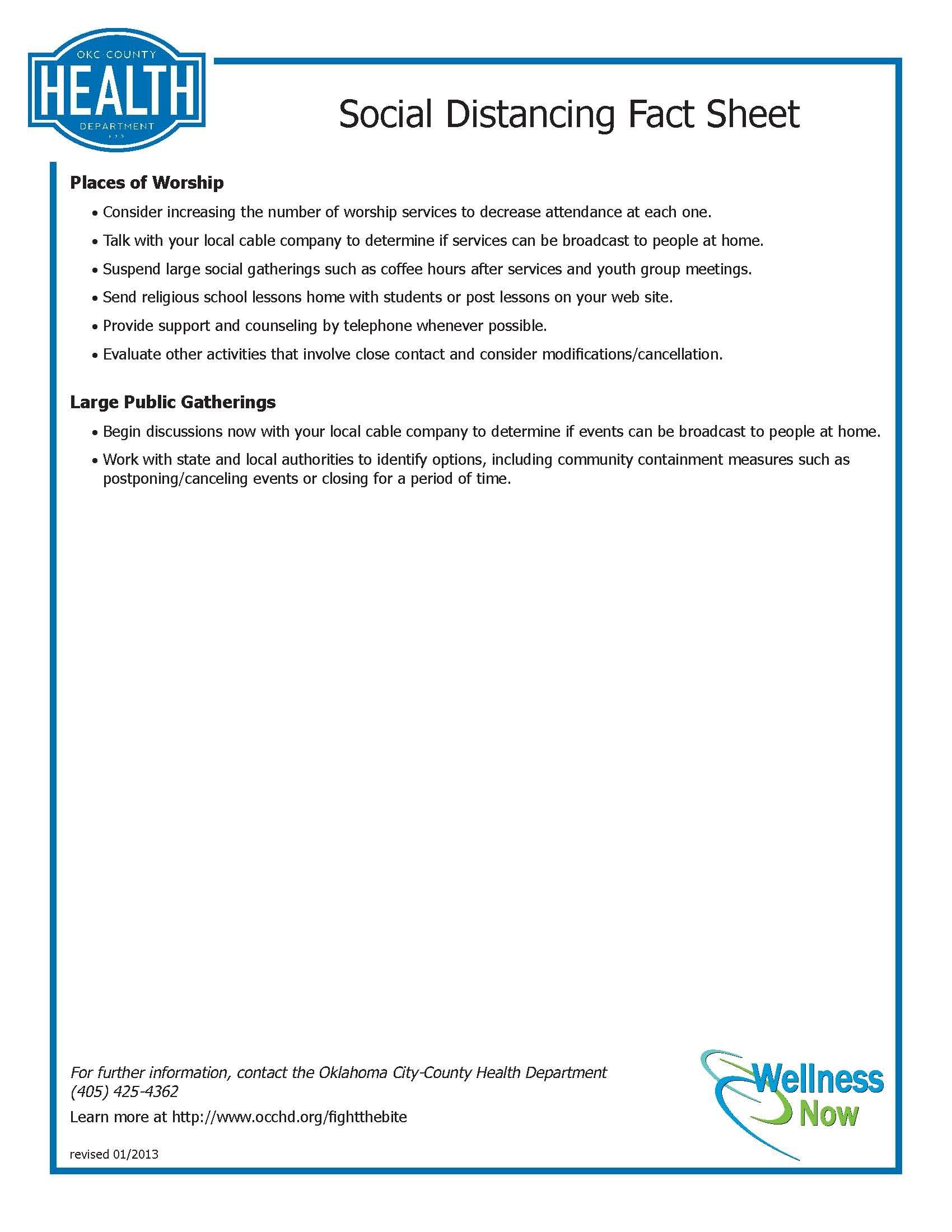 Social Distancing Part 2 Fact Sheet