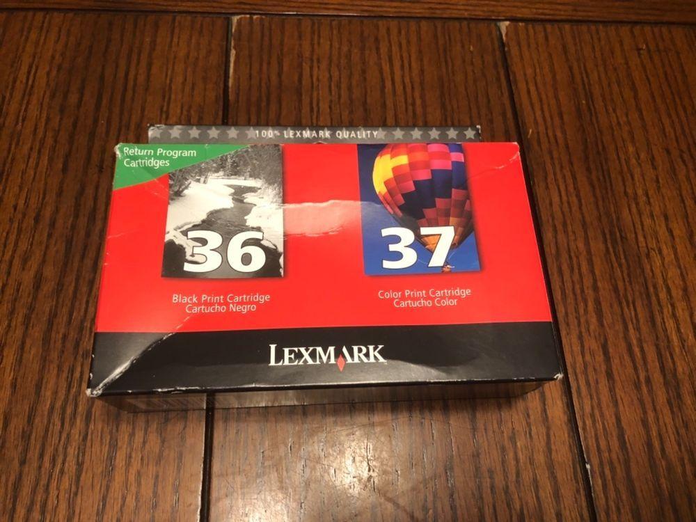 GENUINE SEALED PACKAGE Lexmark 36 37 Ink Cartridges Black Color Combo