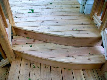 Best Finished Curved Steps Of Cedar Deck Hot Tub Pergola 400 x 300