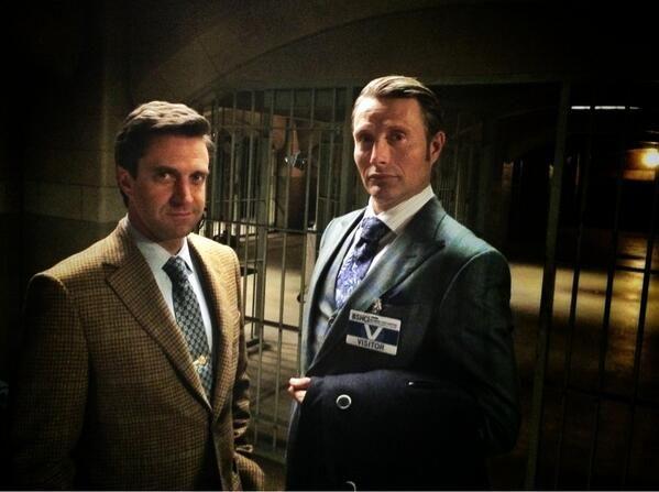 #Hannibal via @Bryan Boyer Boyer Boyer Boyer Fuller--Mads Mikkelsen and Raul Esparza