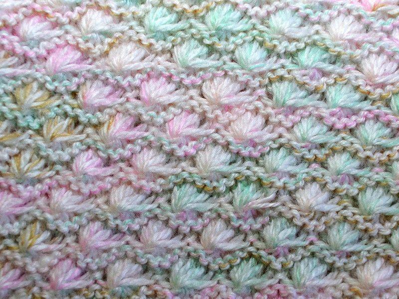 Shells knitting stitch Lotus stitch Star stitch | Knitting ...