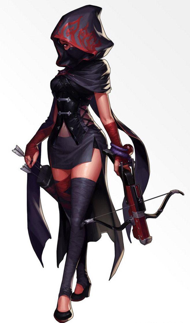 Hooded Female Assassin Rogue Wip Female Character Design Female Assassin Female Characters