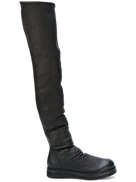 Boots for Women, Booties On Sale, Black, Leather, 2017, 5.5 6.5 Rick Owens
