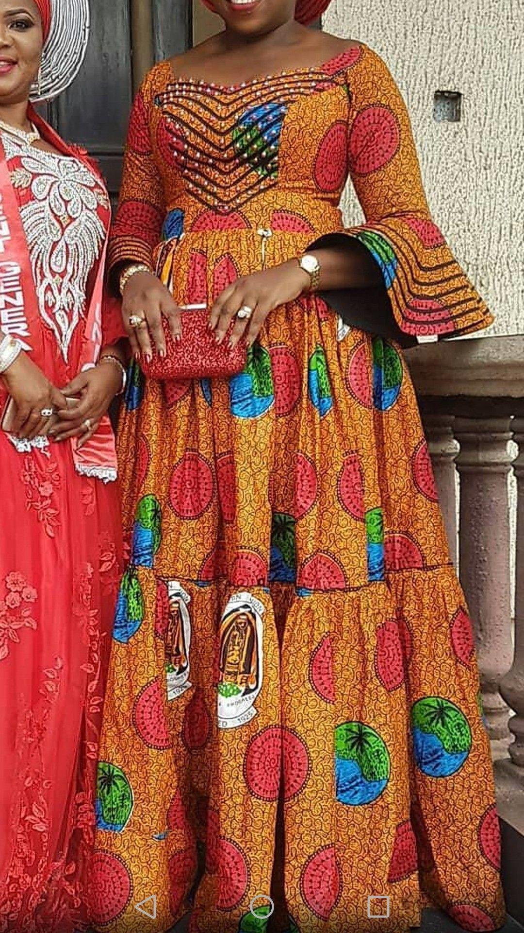 #AfricanPrint | Robe africaine, Mode africaine robe, Mode africaine robe longue
