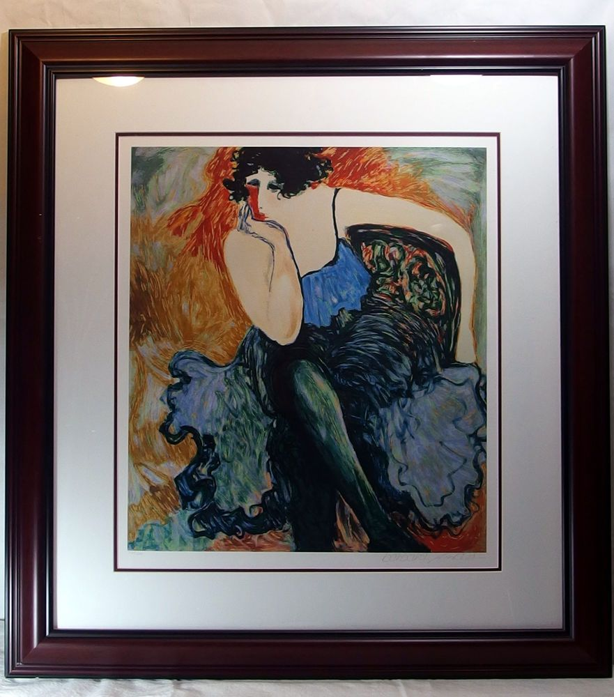 Barbara a wood signed print in the wings limited