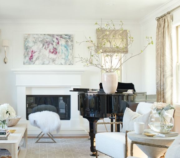 living room with grand piano | Interiors: Functional spaces ...