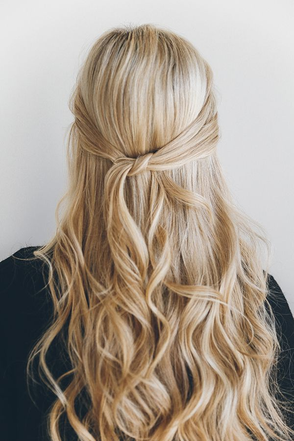 Hair How To The 1 Minute Knotted Half Updo Hair Styles