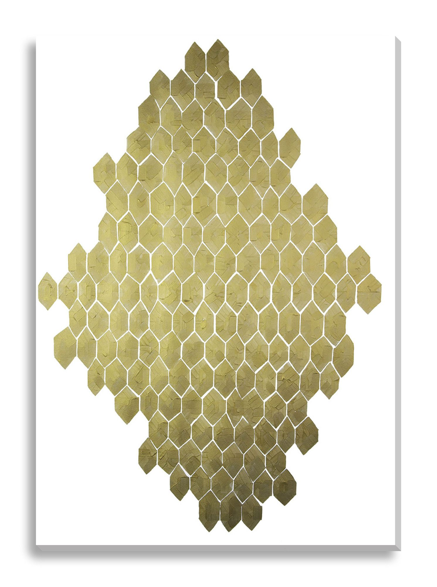 Golden Honeycomb by Kate Roebuck Graphic Art on Canvas | Products ...