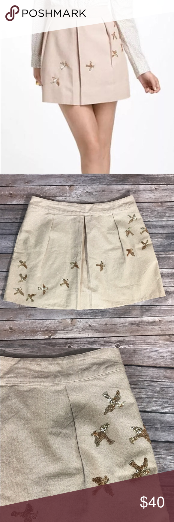 Leifnotes Anthropologie Skirt 14 Mini Migration Measurements: (in inches) - Waist: 34 - Length: 17  Good, gently used condition Anthropologie Skirts Mini