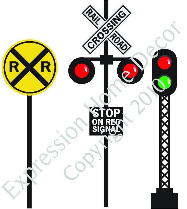 Railroad Train Crossing Signs Set Buy 2 Get 3rd Free Crossing Sign Train Birthday Train Party