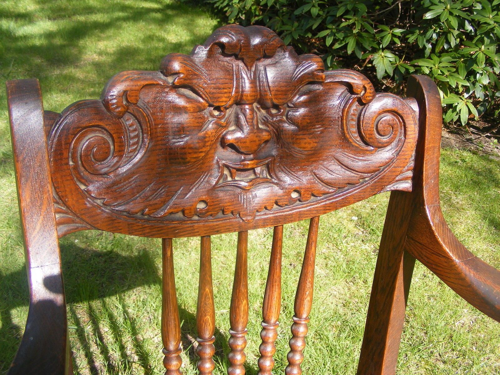 Antique Northwind Oak Chair Ebay North Wind Pinterest. Antique Northwind Large Oak Rocking Chair With Carved Face ... : antique rocking chair with carved face - Cheerinfomania.Com